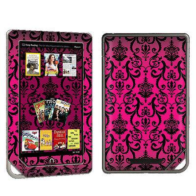 Pink Vintage Vinyl Case Decal Skin To Cover Barnes & Noble Nook Color / Tablet