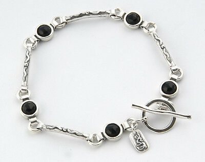 B00525ON SHABLOOL ISRAEL Didae Handcrafted Onyx Sterling Silver 925 Bracelet