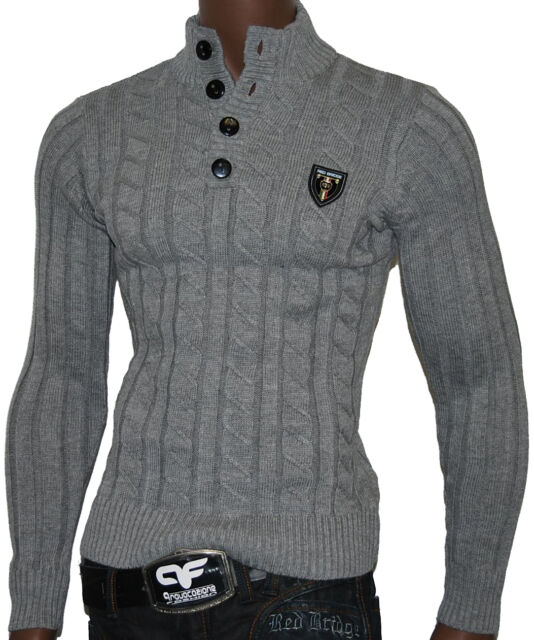 Redbridge by Cipo Baxx Slim Fit Strick Pullover Maglione Troja Pull Shirt R-7089