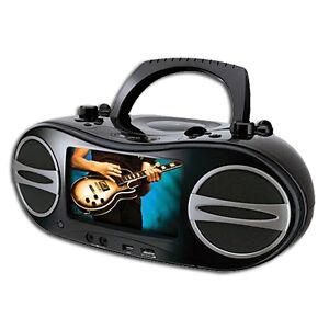 Portable-Karaoke-CD-DVD-Player-7-Screen-Monitor-GPX-BD707B-Free-Shipping-New