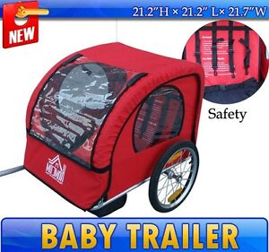 NEW-Red-Elite-Single-Baby-Bike-Bicycle-Trailer-Journey