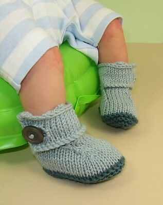 PRINTED KNITTING INSTRUCTIONS -BABY BIG STRAP BOOTIES BOOTS  KNITTING PATTERN