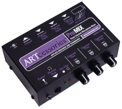ART Promix 3 Ch Mono Mic Mixer /& Headphone Amp *NEW*