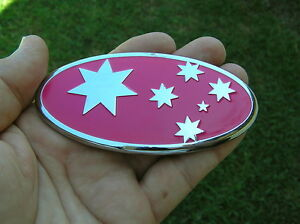 SOUTHERN-CROSS-100mm-PINK-CAR-BADGE-NEW-AUSTRALIA-Suits-Subaru-Grill