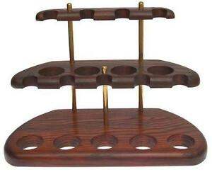 New-Stand-Rack-Hold-Case-Display-Wood-for-9-Smoking-Pipe-Pipes