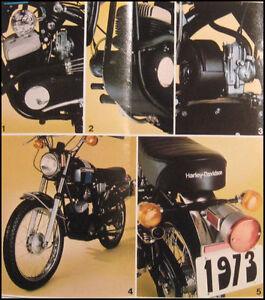1973 harley davidson original z 90 brochure nos amf ebay. Black Bedroom Furniture Sets. Home Design Ideas