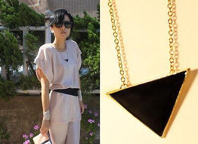 Fashion Sexy Design Black Triangle Alloy Chain Clavicle Fashion trendy Necklace