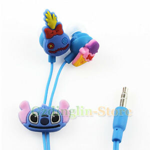 Disney-Stitch-Headphones-Earphone-Earbuds-Headset-3-5mm-In-Ear-Mp3-Mp4-PC-E27