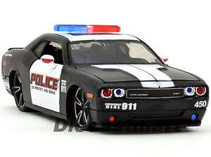 MAISTO-1-24-2010-DODGE-CHALLENGER-POLICE-NEW-DIECAST-MODEL-CAR-BLACK-WHITE