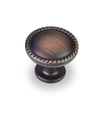 Kitchen Cabinet Hardware Knobs z115 Brushed Oil Rubbed Bronze pulls 1-1/4""