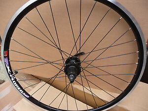 Rear-Alloy-BLACK-MTB-ATB-Bike-26-Wheel-QR-DISC-BLACK-QUANDO-HUB-6-DISC-HOLE-NEW