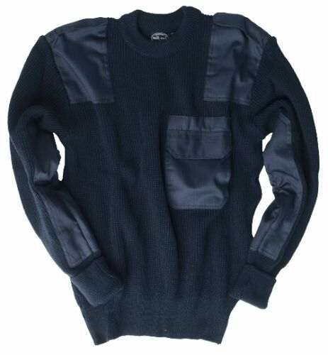 Navy Commando Pullover Sweater Military Top All Sizes German Army Style Jumper