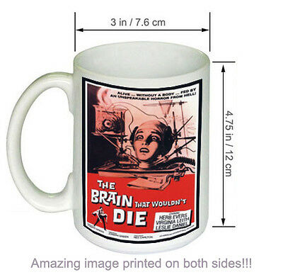 The Brain That Wouldn't Die Vintage Science Fiction Horror Movie COFFEE MUG