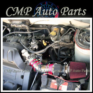 Details About Red Air Intake Kit Fit 2001 2004 Mazda Tribute Ford Escape 3 0 0l