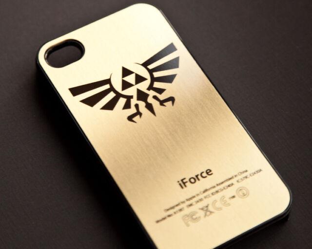 ZELDA TRIFORCE GOLDEN iPhone 5S-5C-5-4S-4 Firm Rubber  Case Cover Gold Black