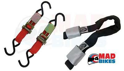 R&G Racing  Motorcycle / Motorbike Tie Down System, Top Strap & Ratchet Straps