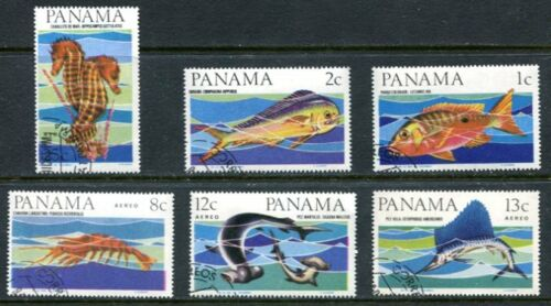 PANAMA 1965 FISH SET OF SIX STAMPS COMPLETE!