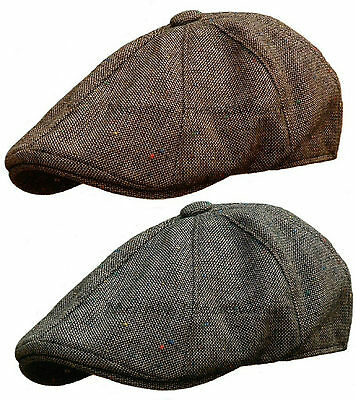 STETSON Tweed Mens GATSBY Cap Newsboy IVY hat Golf wool driving flat m l xl