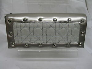 LADIES EVENING BAGS PEWTER / SILVER CLUTCH BAG 72072