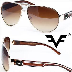 Aviator-Sunglasses-Designer-Mens-Modern-Classic-Black-Brown-White-FF7837-multi