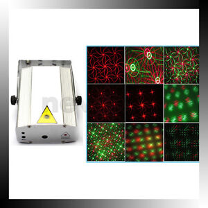 Mini-DJ-Disco-Party-Laser-Stage-Projector-Light-Lighting-8-Image-Strobe-Light