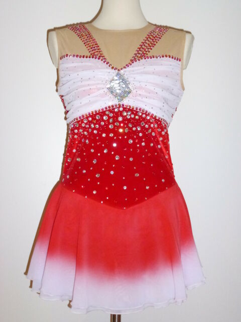 STUNNING AND GORGEOUS ICE SKATING DRESS CUSTOM MADE TO FIT