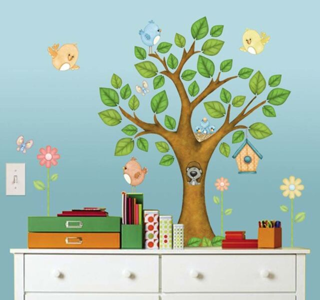 In The Tree Top Kids Peel & Stick Childrens / Nursery Wall Mural 71 pieces 02564
