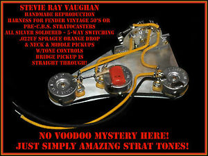 Details about SRV REPRO STRAT WIRING HARNESS -MADE FOR FENDER STEVIE on