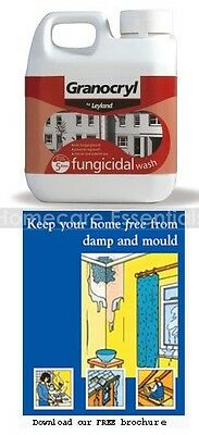 Granocryl Fungicidal Wash 1 Litre for Removing Mould Mildew from Walls Ceilings