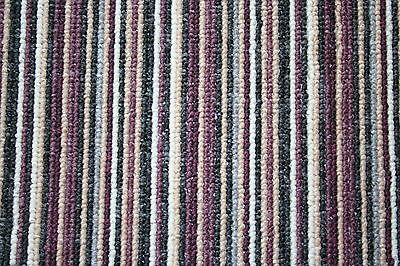 Small Long Large Carpet Stair Hall Runner Purple Violet Stripe Long Hall Rug
