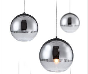 modern chrome glass mirror ball ceiling lamp hanging. Black Bedroom Furniture Sets. Home Design Ideas