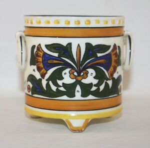 art deco erphila czechoslovakia bohemia vase cache pot art pottery ebay. Black Bedroom Furniture Sets. Home Design Ideas
