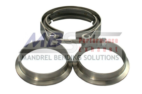 """V-Band Exhaust Clamp And Flanges 2 1//2/"""" 304 Stainless Steel Turbo Universal MBS"""