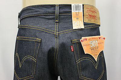 """NWT LEVI'S 501-0000 INDIGO BLUE RIGID JEANS """"SHRINK TO FIT"""" LEVI'S JEAN SZ:34x32"""