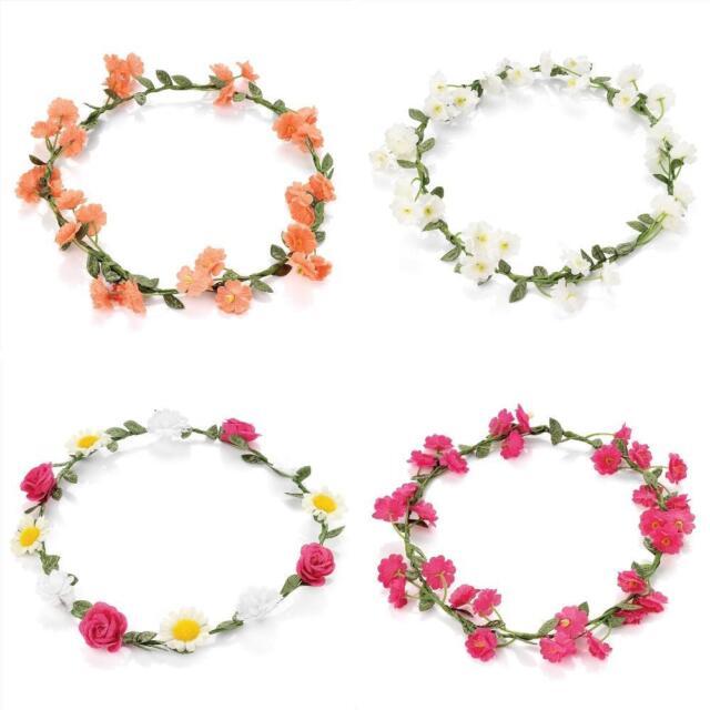 Flower Garland Crown Headband Festival Forehead Hair Band - Hair Accessories