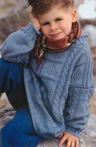 Childs DK Guernsey tree of life sweater Knitting Pattern ...