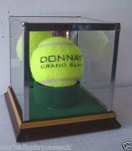 SIGNED-TENNIS-BALL-HOLDER-WIMBLEDON-GLASS-DISPLAY-CASE-ONLY
