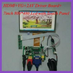 HDMI-VGA-2AV-Driver-board-7inch-800-480-AT070TN92-V-5-Lcd-with-touch-panel