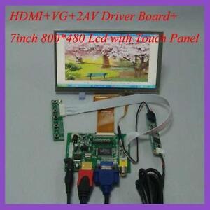 HDMI-VGA-2AV-Driver-board-7inch-800-480-AT070TN92-V-5-Lcd-with-touch-panel