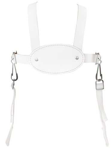 FACTORY SECONDS WHITE LEATHER HARNESS for SILVER CROSS KENSINGTON BALMORAL PRAM