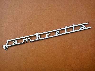 lambretta front monograme - stainless steel crome  - free shipping