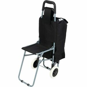 Overnight Carry On Rolling Bag W Folding Chair Mens