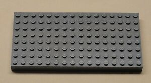 x1-NEW-Lego-Gray-Brick-Baseplates-Base-Plates-Brick-Lot-8-x-16-Dark-Bluish-Gray