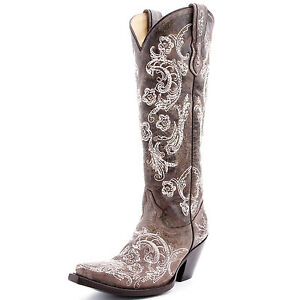 Corral-G1027-Lace-Stitched-Cowgirl-Boot-NIB