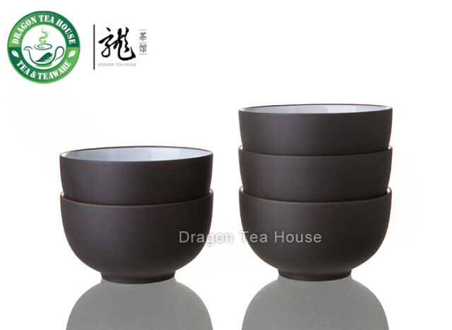 Yixing Clay Glazed Dark Brown Zisha Teacup 20ml 0.7oz