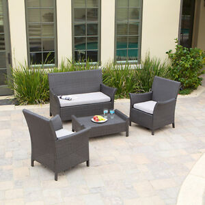 Outdoor-Patio-Furniture-Ibiza-4pcs-Luxury-Wicker-Sofa-Set