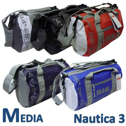 SLAM BORSA MEDIA WR BAG 2 COLORE BLU ROYAL BIANCA BARCA NAUTICO SPORTIVA PISCINA