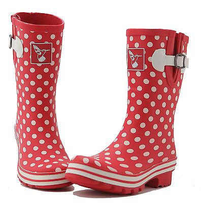 Ladies Wellies Winter Boots Rain Boots Designer Mid-Calf Wellys Evercreatures