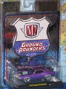 M2-Machines-Terra-Pounders-1970-Dodge-Challenger-Pressofuso-Marca-Nuovo-e-Raro