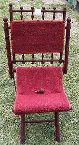 Unique Antique Campaign Politician Wood Folding Chair